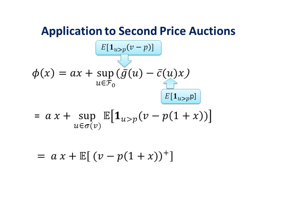 Application to Second Price Auctions