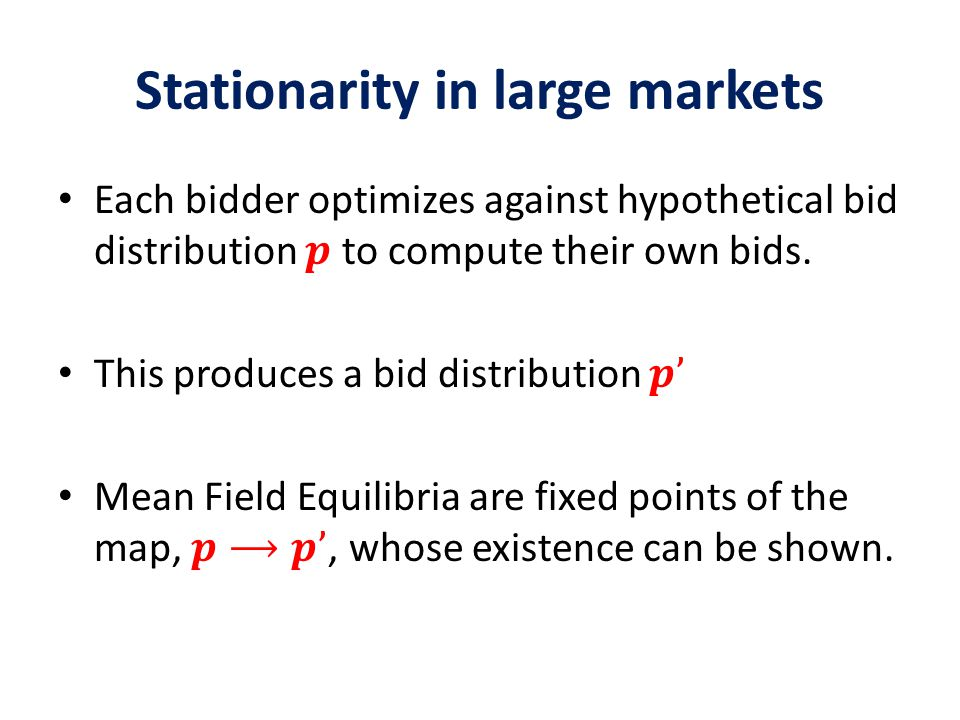 Stationarity in large markets