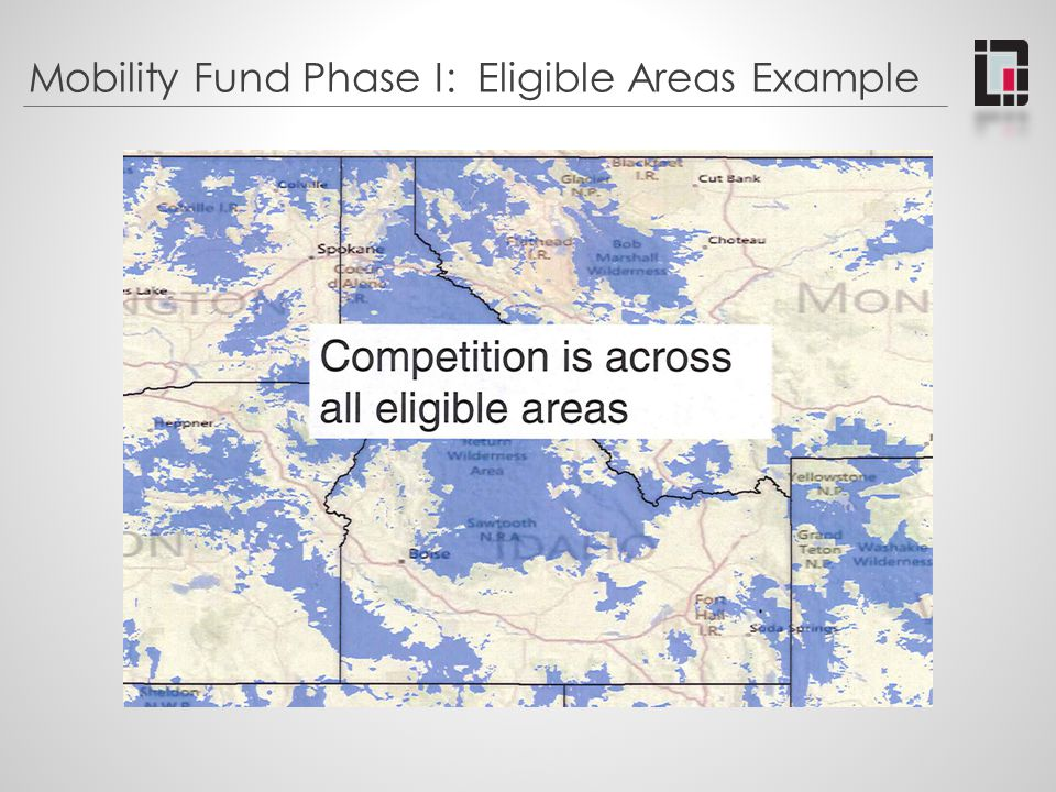 Mobility Fund Phase I: Eligible Areas Example