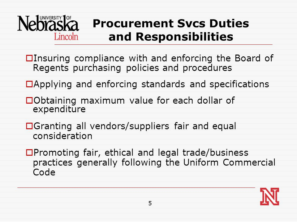 6 Types of Procurement  On Campus Stock Purchases  Contract Procurement/Purchases  Competitive Sealed Bids and Request for Proposals (RFP)  Departmental Purchases  Sole Source