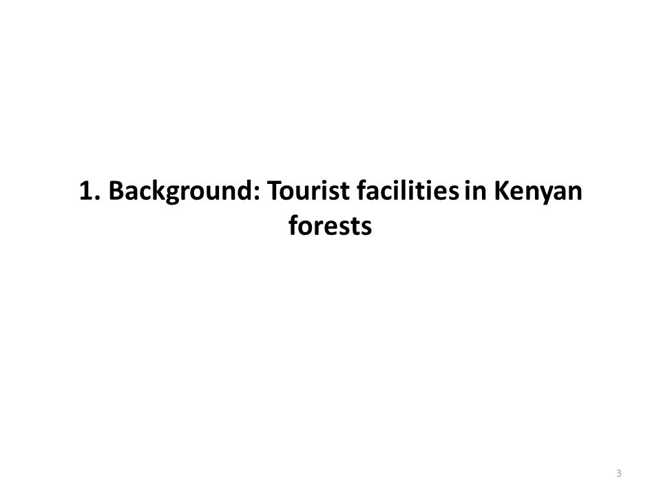 1. Background: Tourist facilities in Kenyan forests 3
