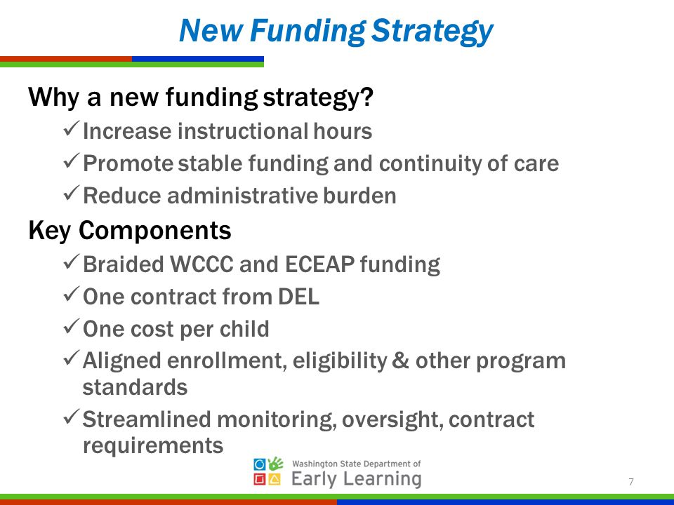 Why a new funding strategy.