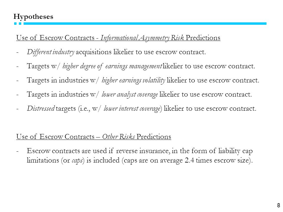 19 Endogeneity & Instrumental Variables Choice Adoption of escrow contract is endogenous w.r.t.