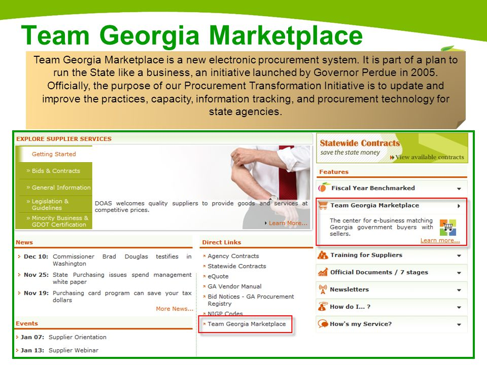 6 Sourcing Bidder If your company provides goods or services but has never had a purchase order, received a remittance, or been awarded a contract by the State of Georgia, you need to register as a sourcing bidder.