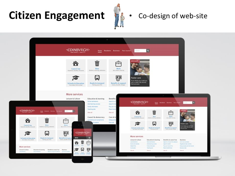 Citizen Engagement Co-design of web-site