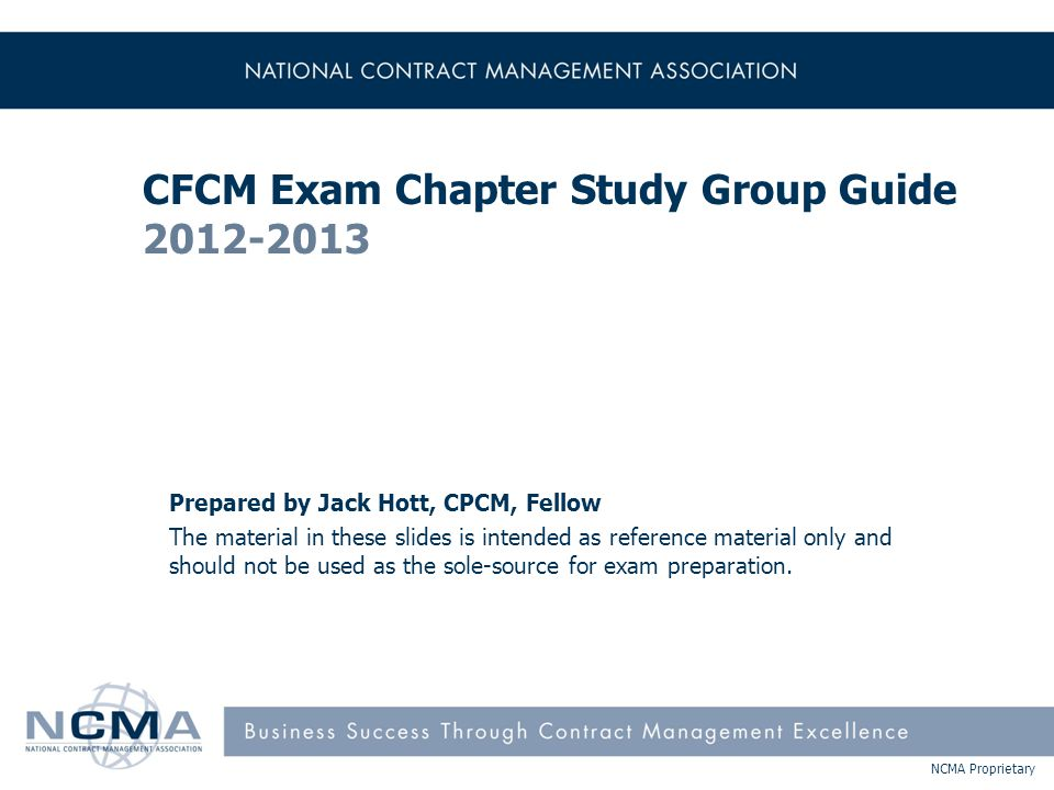 NCMA Proprietary Multiple-Choice Questions  Stem –Read the FULL statement to understand what the question is asking  Key –The correct answer  Distracters –Plausible answers to those who cannot ascertain the correct answer 151