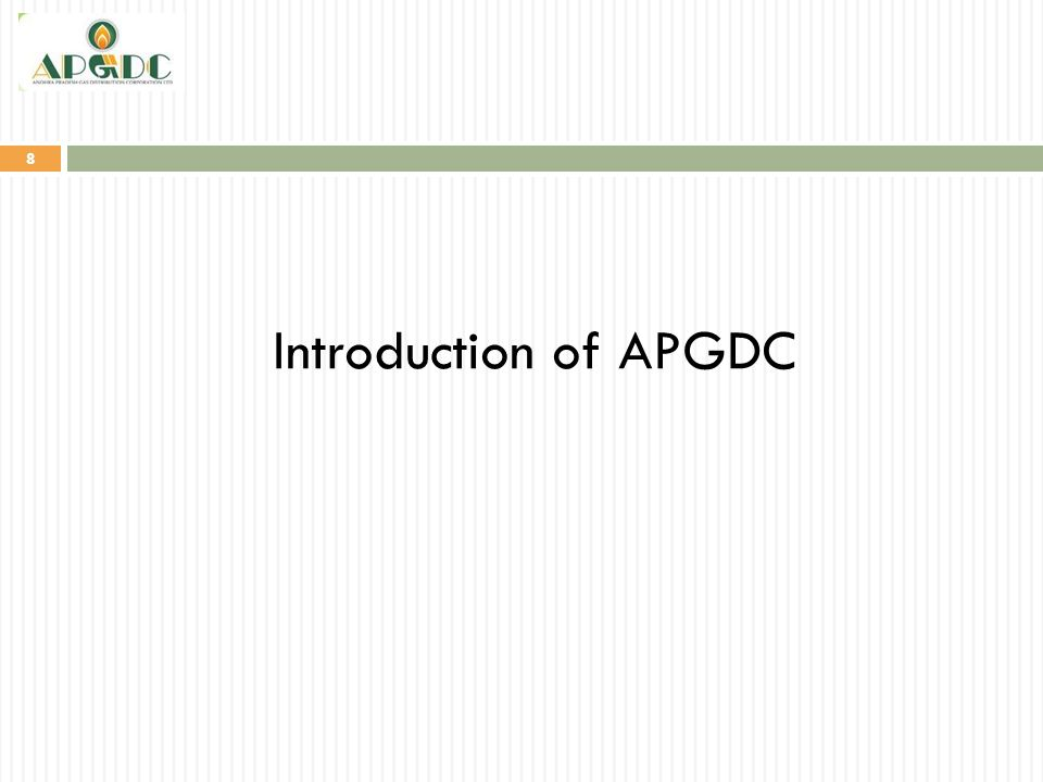 8 Introduction of APGDC