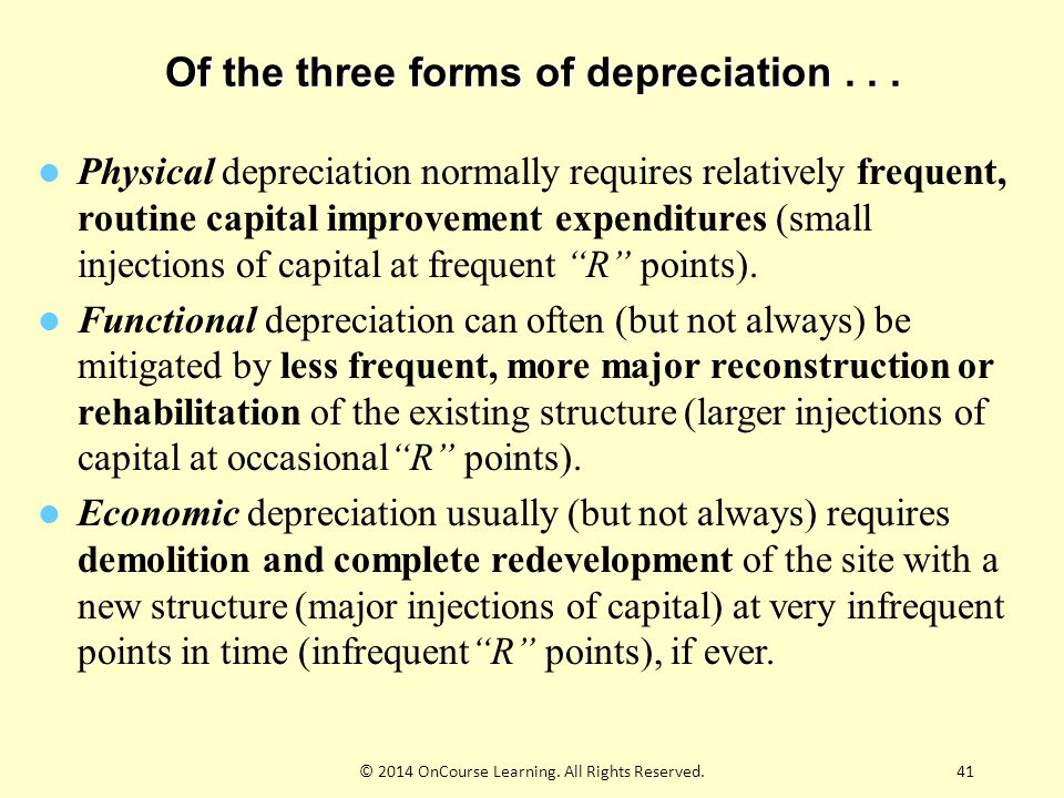 41 Of the three forms of depreciation...