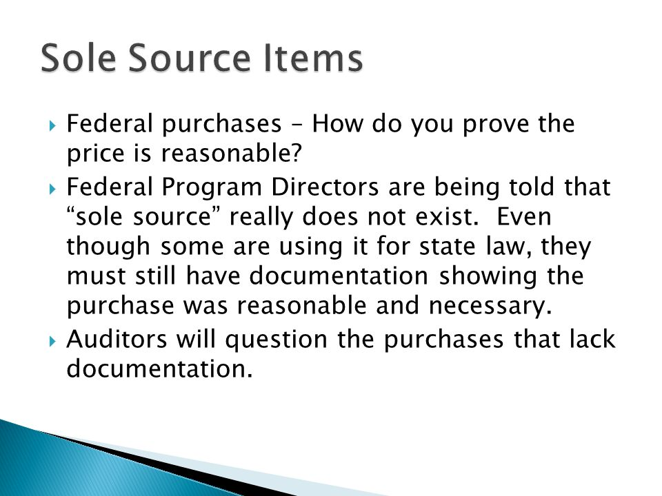  Federal purchases – How do you prove the price is reasonable.