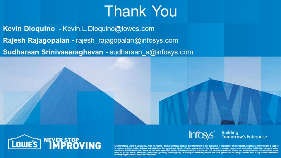 © 2013 Infosys Limited, Bangalore, India. All Rights Reserved.