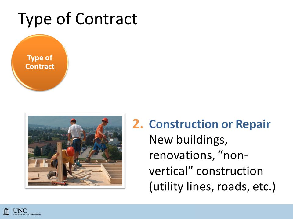 Type of Contract 2.