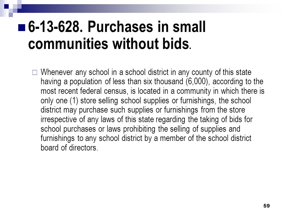 6-13-628. Purchases in small communities without bids.
