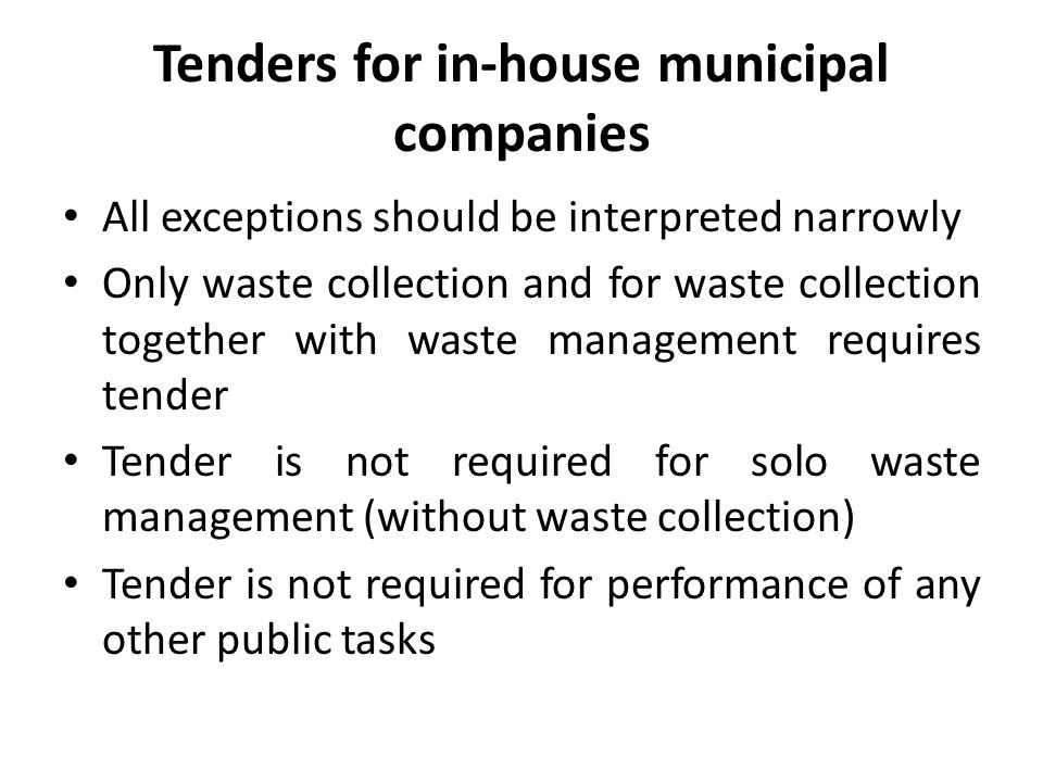 Recycling requirements The municipality, which does not attain the required level of recycling - is subject to a financial penalty calculated separately for desired level: 1) recycling, preparation for re-use and recovery of other methods; 2) reduction of biodegradable municipal waste transferred to landfill.