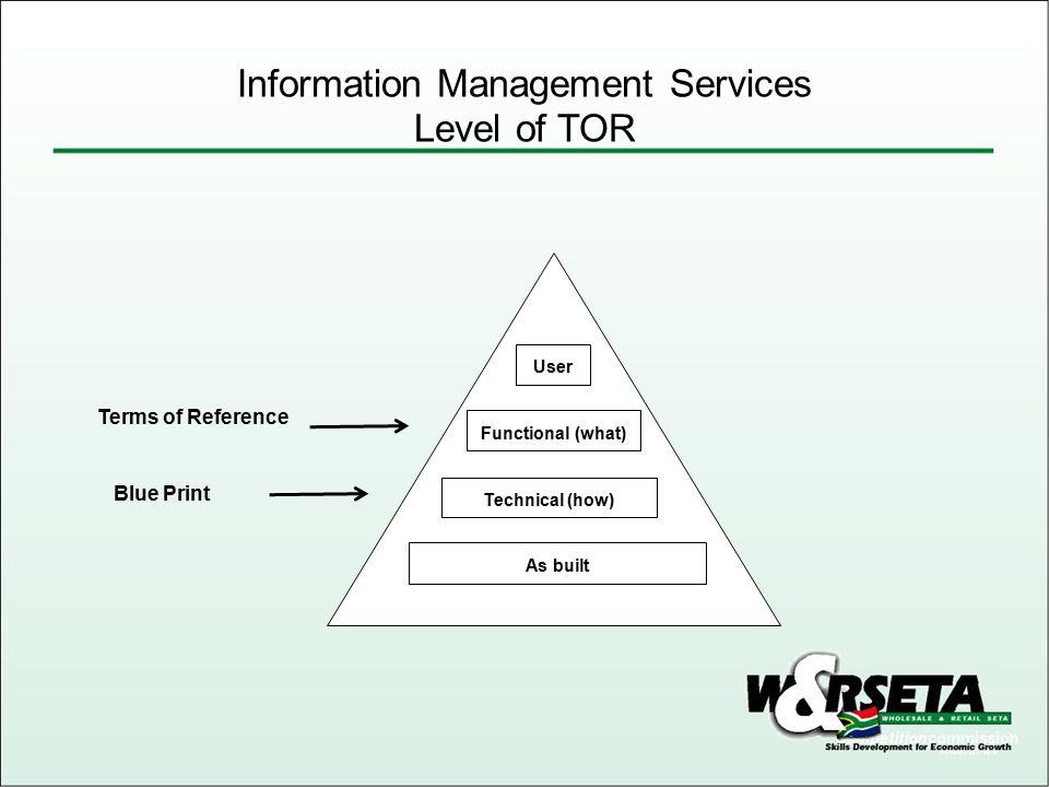 Information Management Services Scope A.