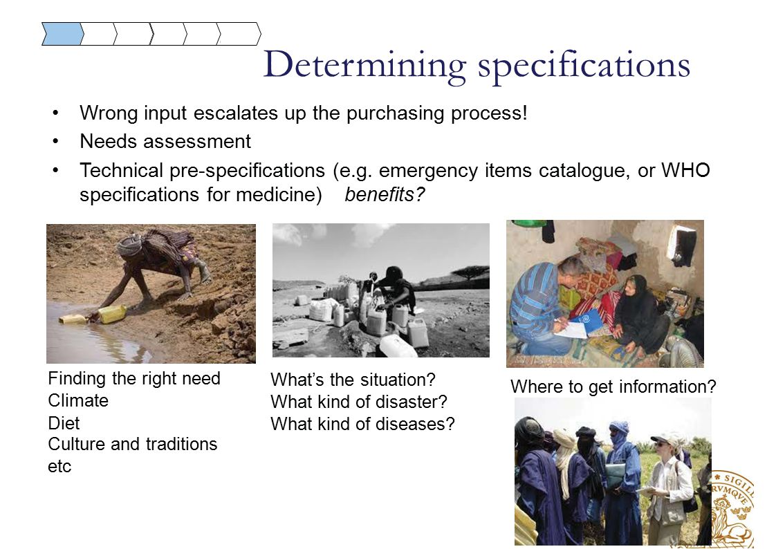 Determining specifications Where to get information.