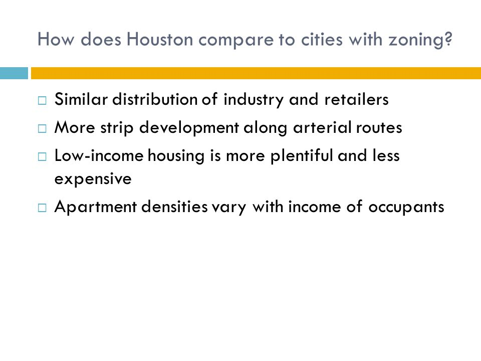 How does Houston compare to cities with zoning.