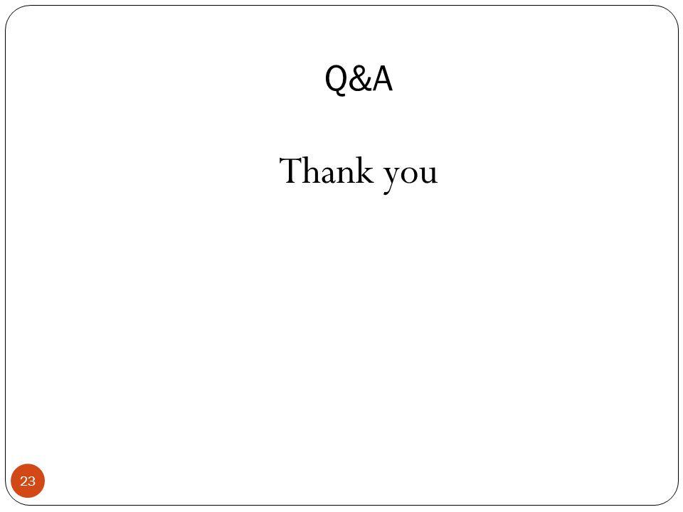 Q&A Thank you 23