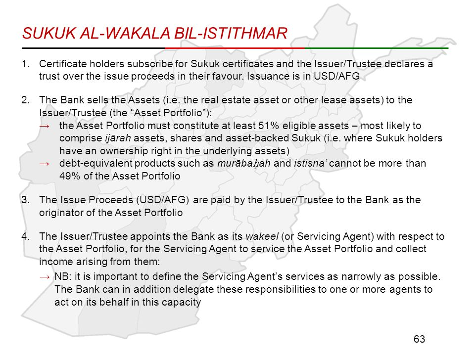 1.Certificate holders subscribe for Sukuk certificates and the Issuer/Trustee declares a trust over the issue proceeds in their favour.