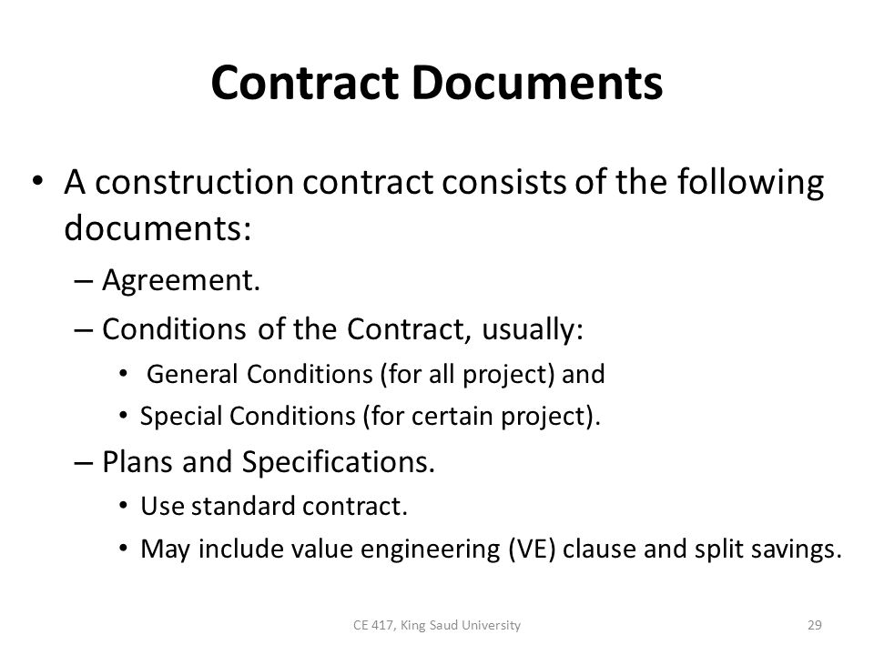 Chapter Contract Construction Ce  King Saud University