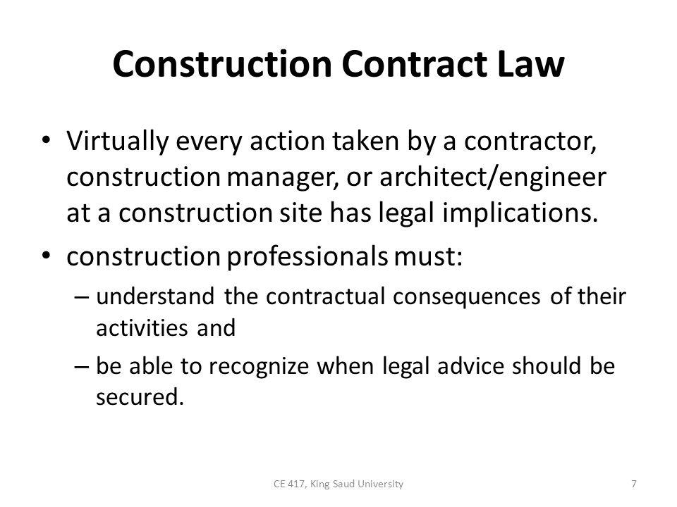 18-2 BIDDING AND CONTRACT AWARD Bid Preparation Bidding Procedure Contract Award Subcontracts 8CE 417, King Saud University