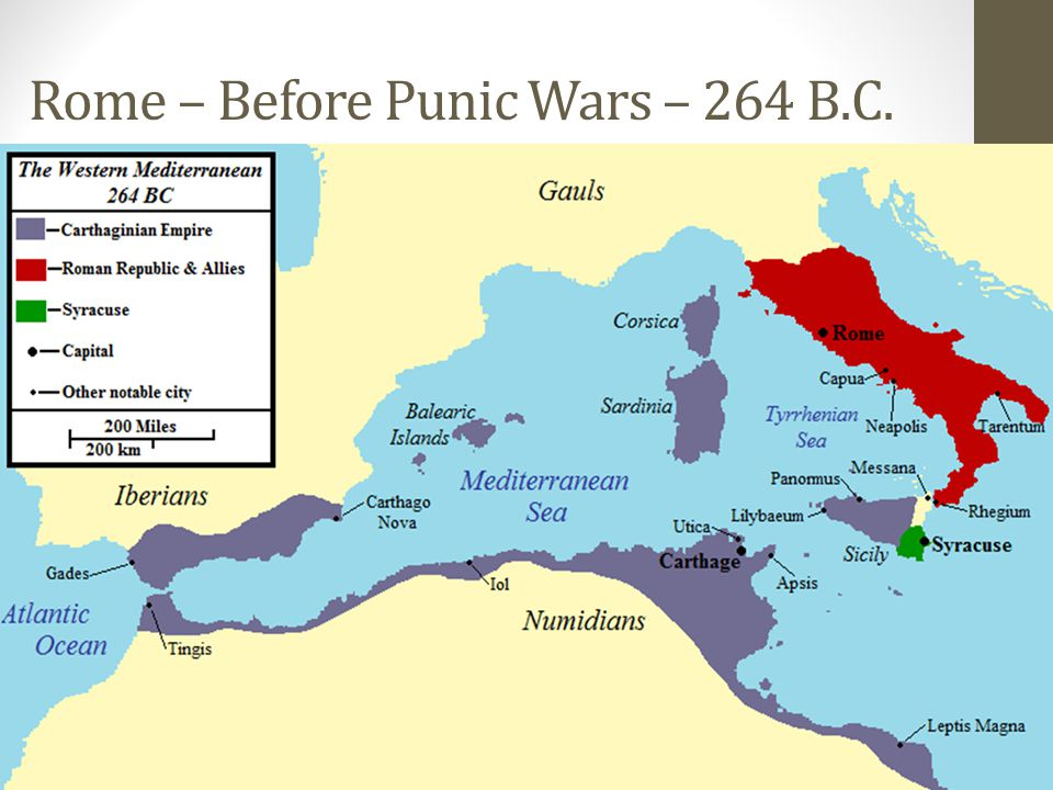 Rome – Before Punic Wars – 264 B.C.