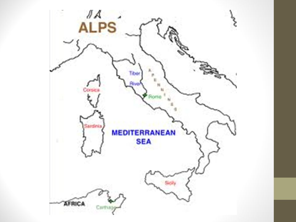 Rome – Before Punic Wars – 264 B.C.