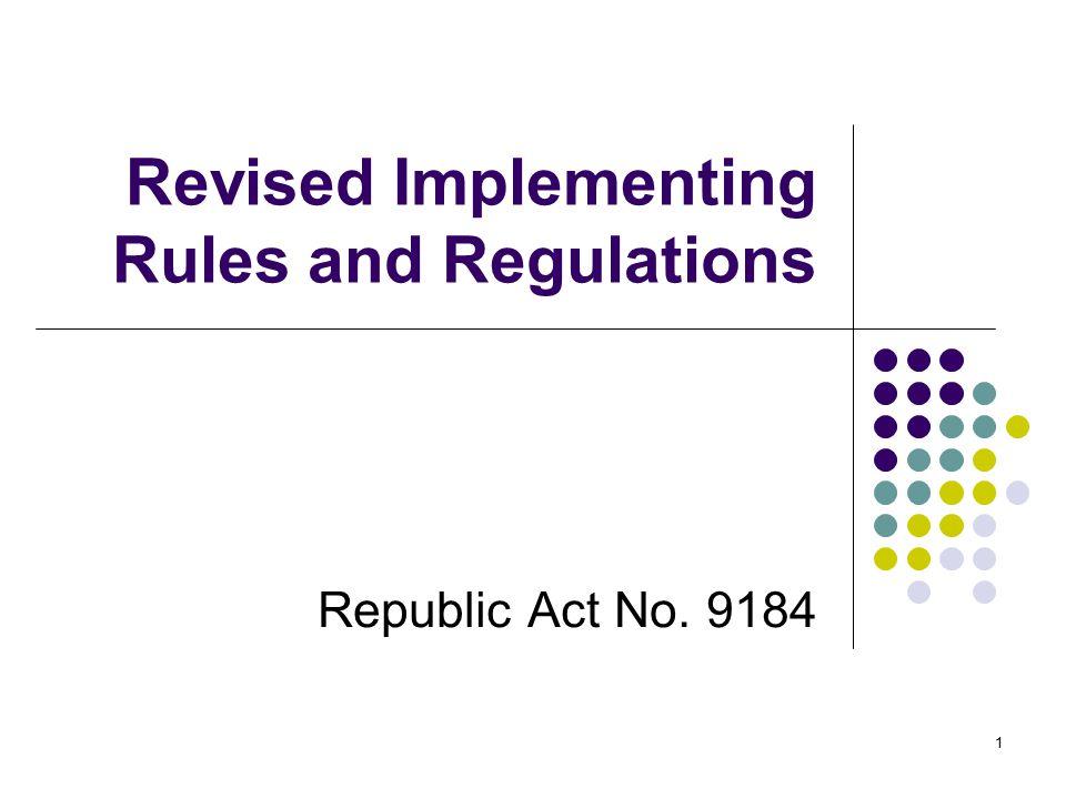 IRR Revisions Post-qualification (Sec.