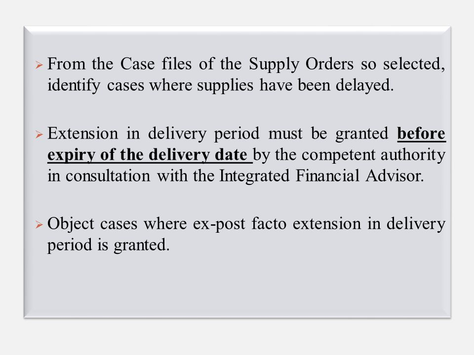 Further check the following :  whether any LD clause was incorporated in the contract.