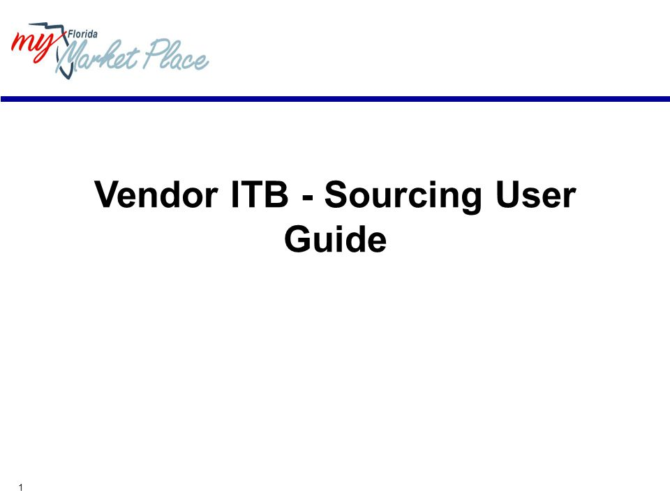 1 Vendor ITB - Sourcing User Guide