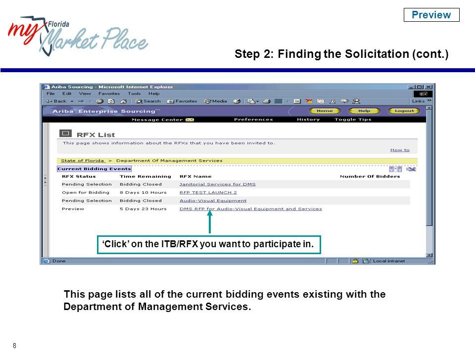 9 Information regarding the entire solicitation.