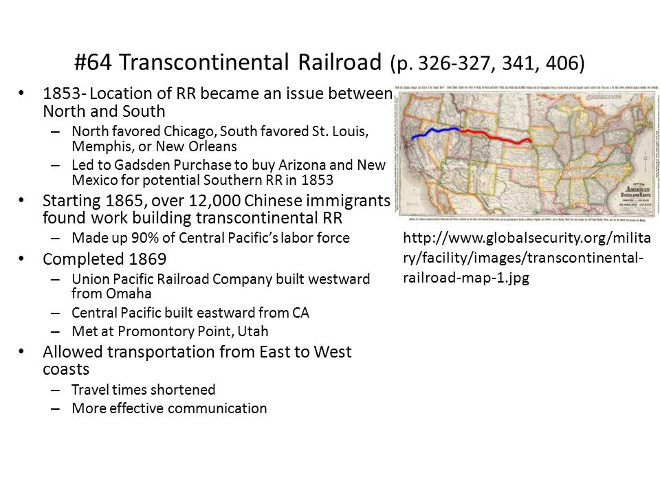 #64 Transcontinental Railroad (p.