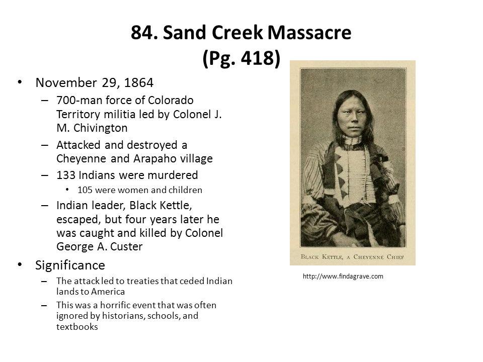 84.Sand Creek Massacre (Pg.