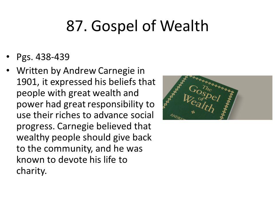 87.Gospel of Wealth Pgs.
