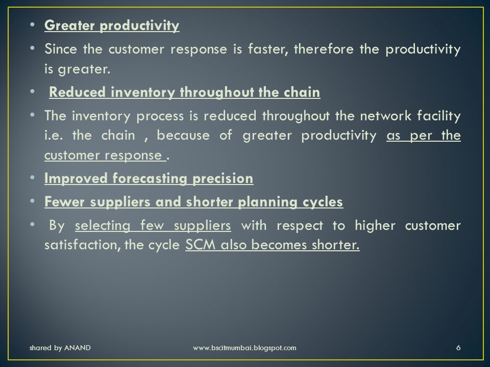 shared by ANANDwww.bscitmumbai.blogspot.com17 Procurement – Procurement function begins with sourcing the supply after short listing suppliers.