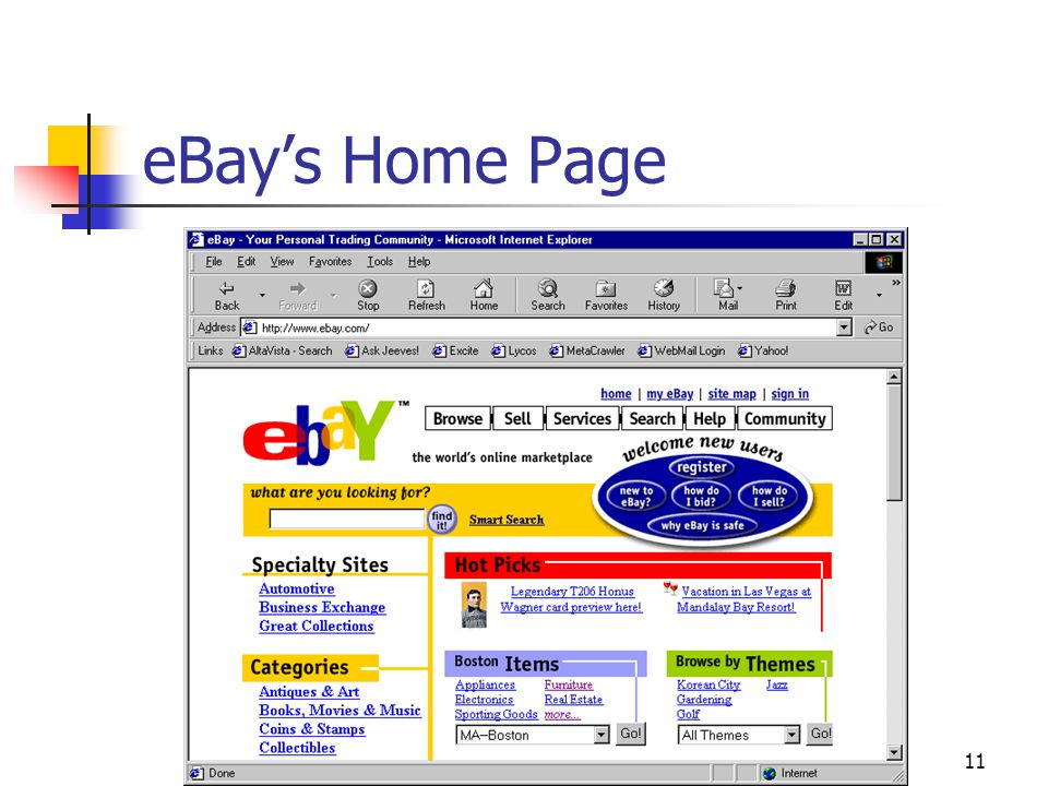 11 eBay's Home Page