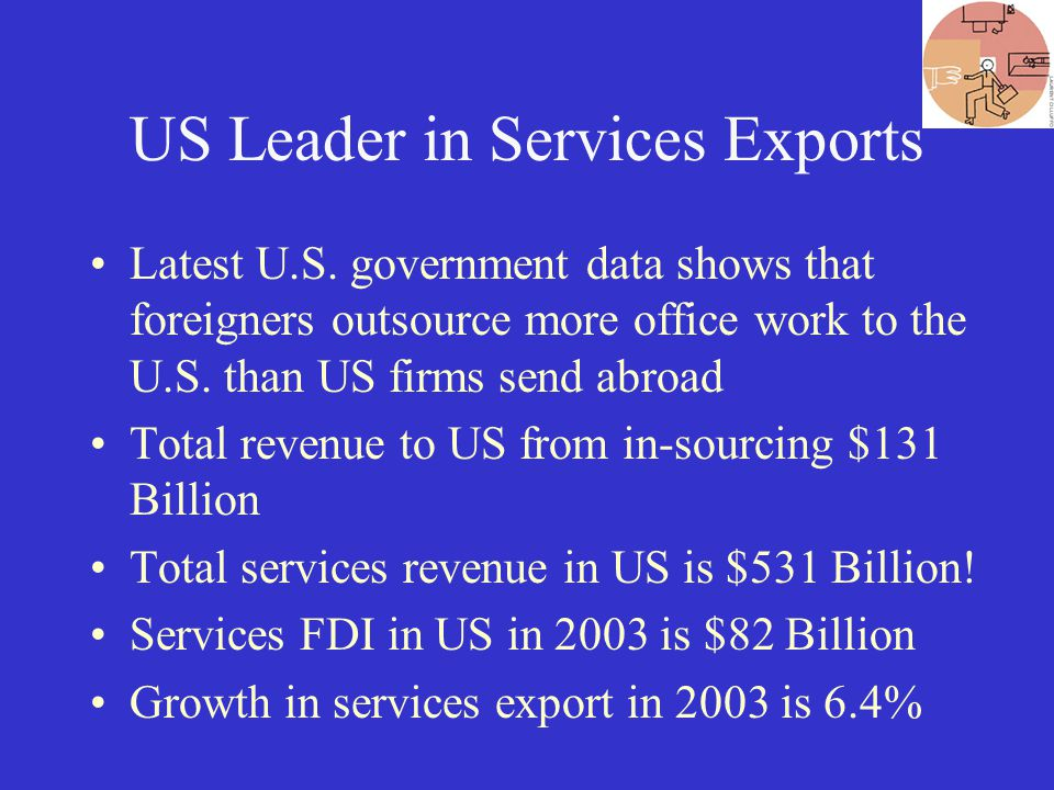 US Leader in Services Exports Latest U.S.