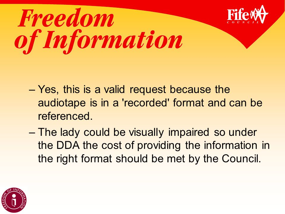 –Yes, this is a valid request because the audiotape is in a recorded format and can be referenced.