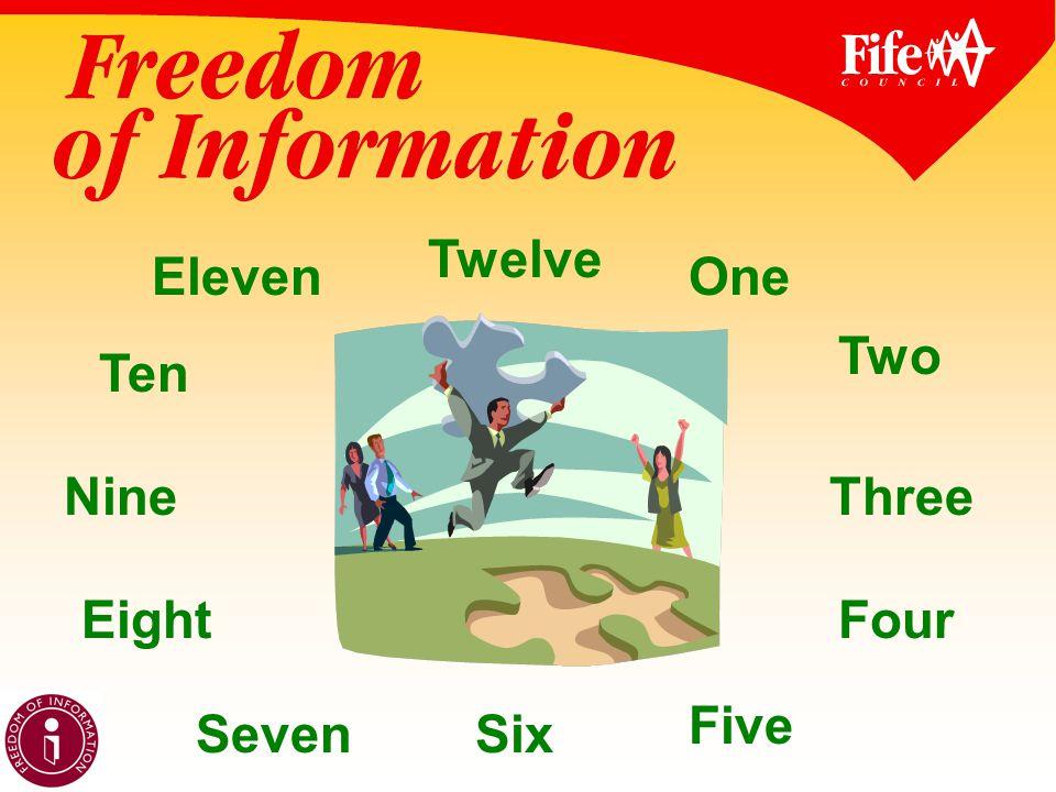 OneEleven Twelve Nine Ten Eight SevenSix Five Four Three Two