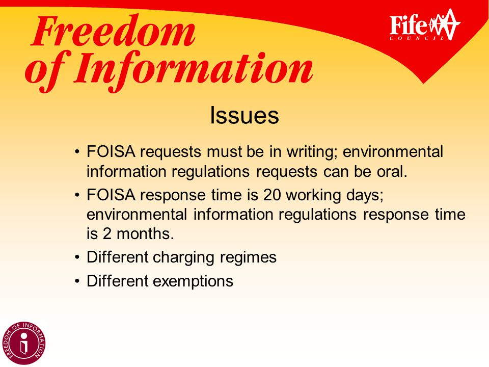 Issues FOISA requests must be in writing; environmental information regulations requests can be oral.