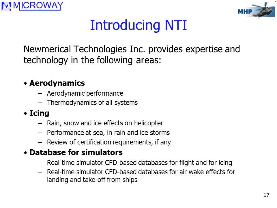 17 Introducing NTI Newmerical Technologies Inc.
