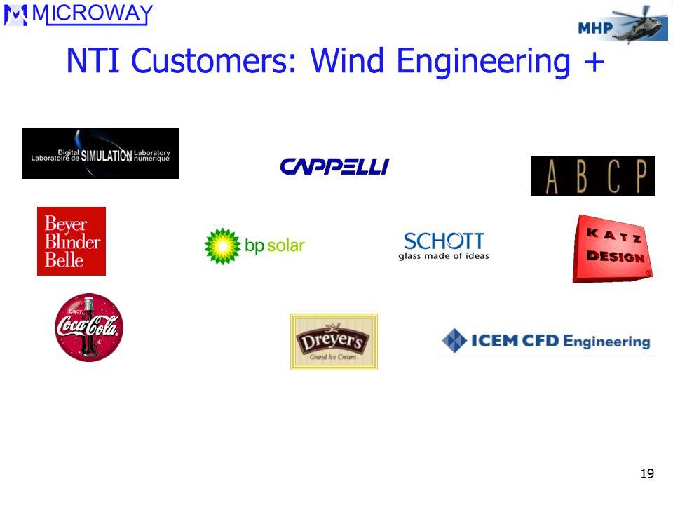 19 NTI Customers: Wind Engineering +
