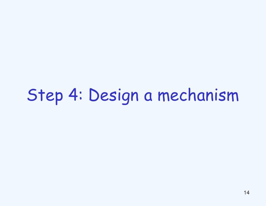 14 Step 4: Design a mechanism