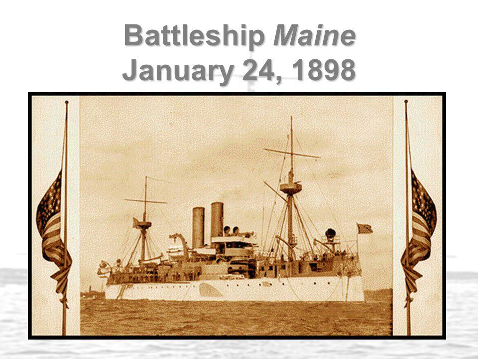 Battleship Maine January 24, 1898