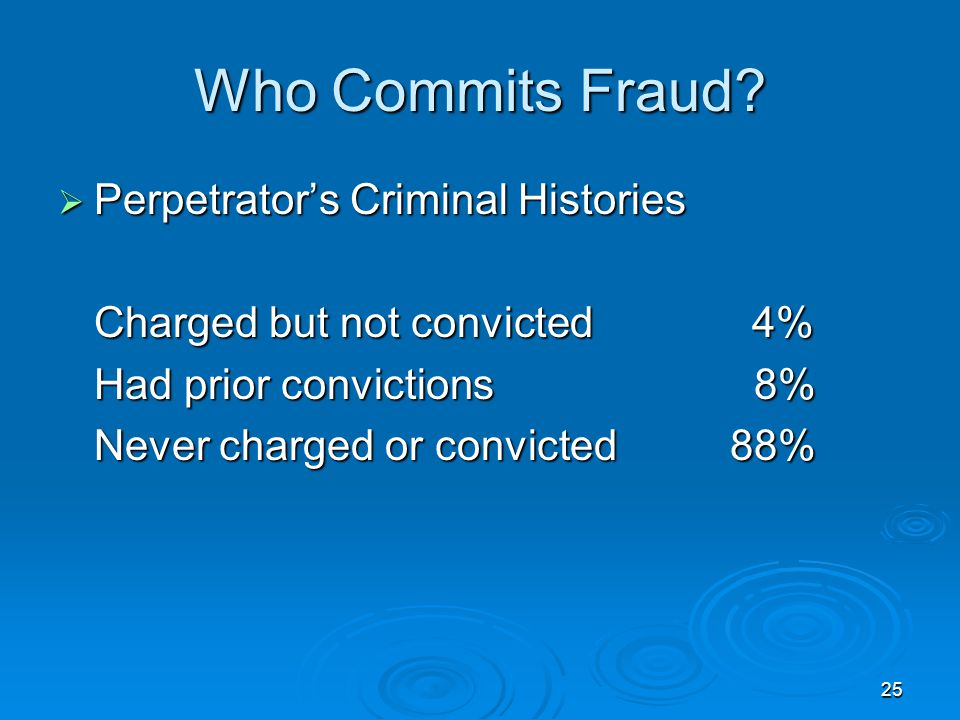 25 Who Commits Fraud.