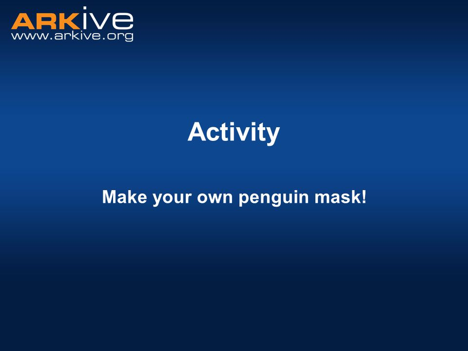 Activity Make your own penguin mask!