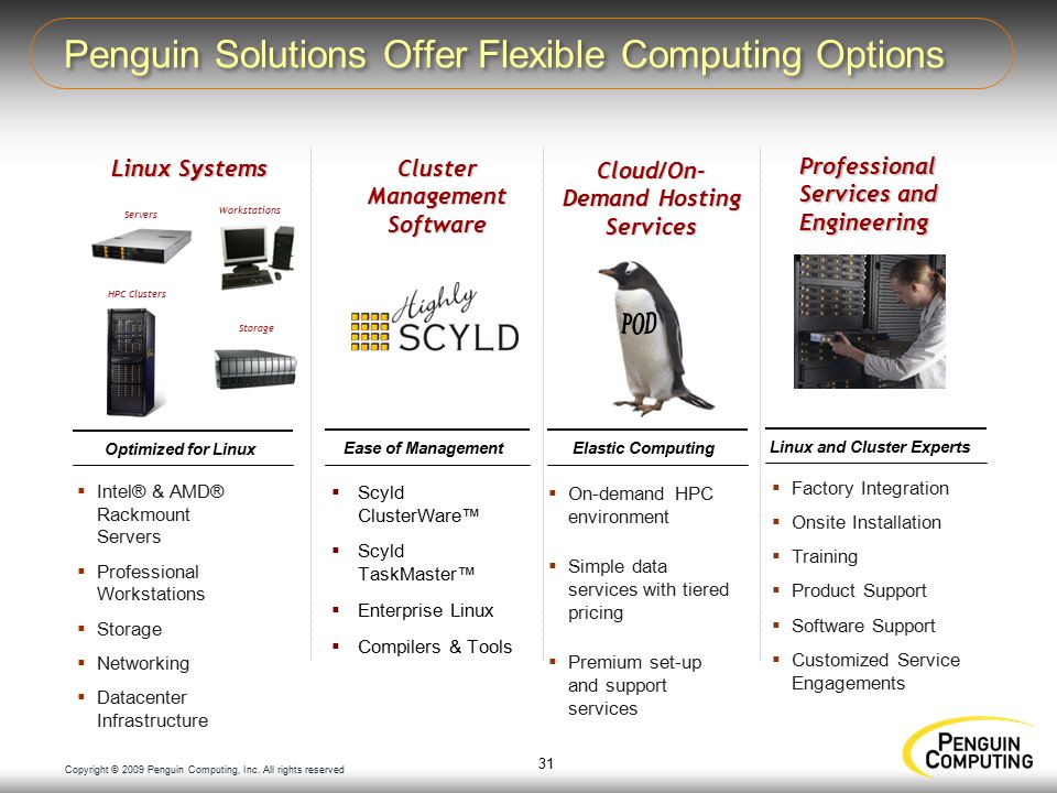 Copyright © 2009 Penguin Computing, Inc.