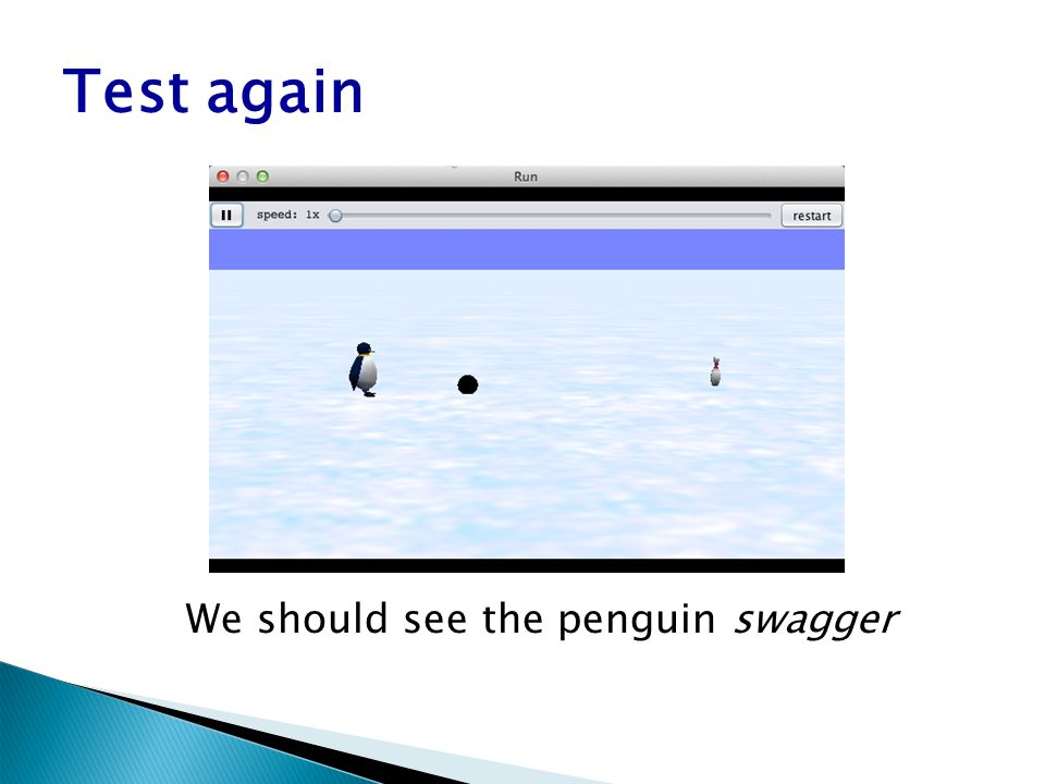 Test again We should see the penguin swagger