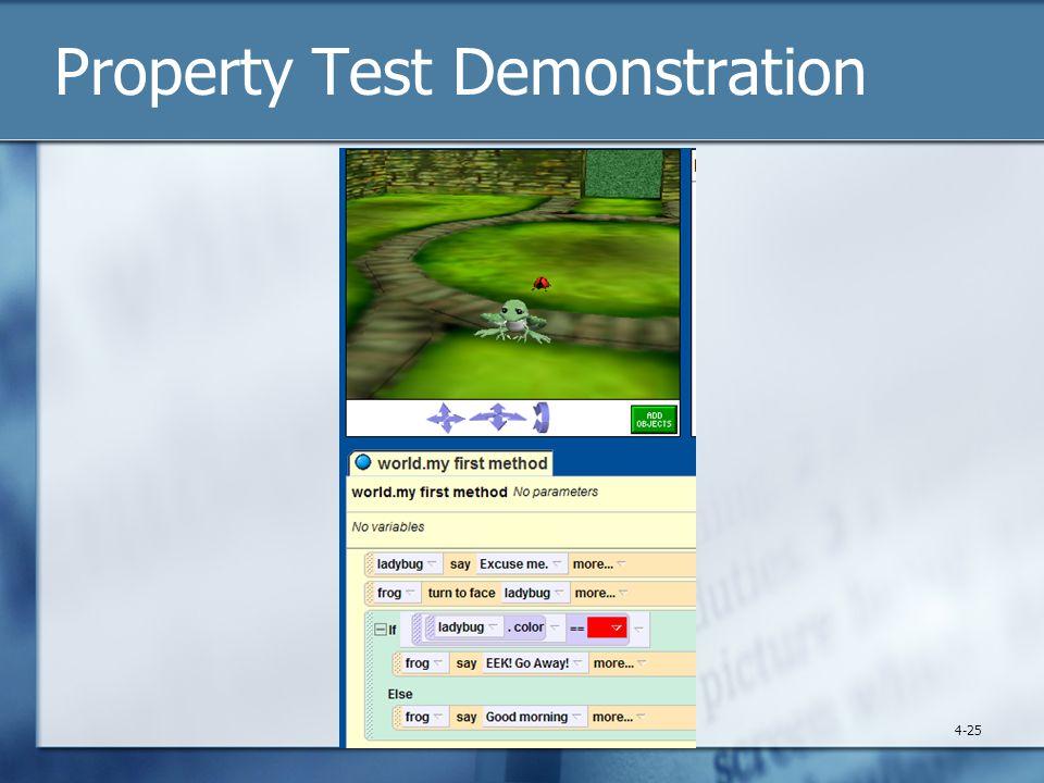 Property Test Demonstration 4-25