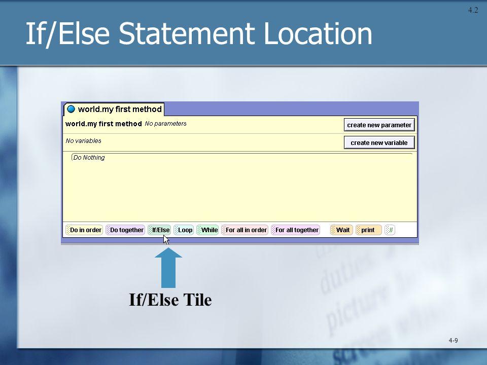 If/Else Statement Location 4-9 4.2 If/Else Tile
