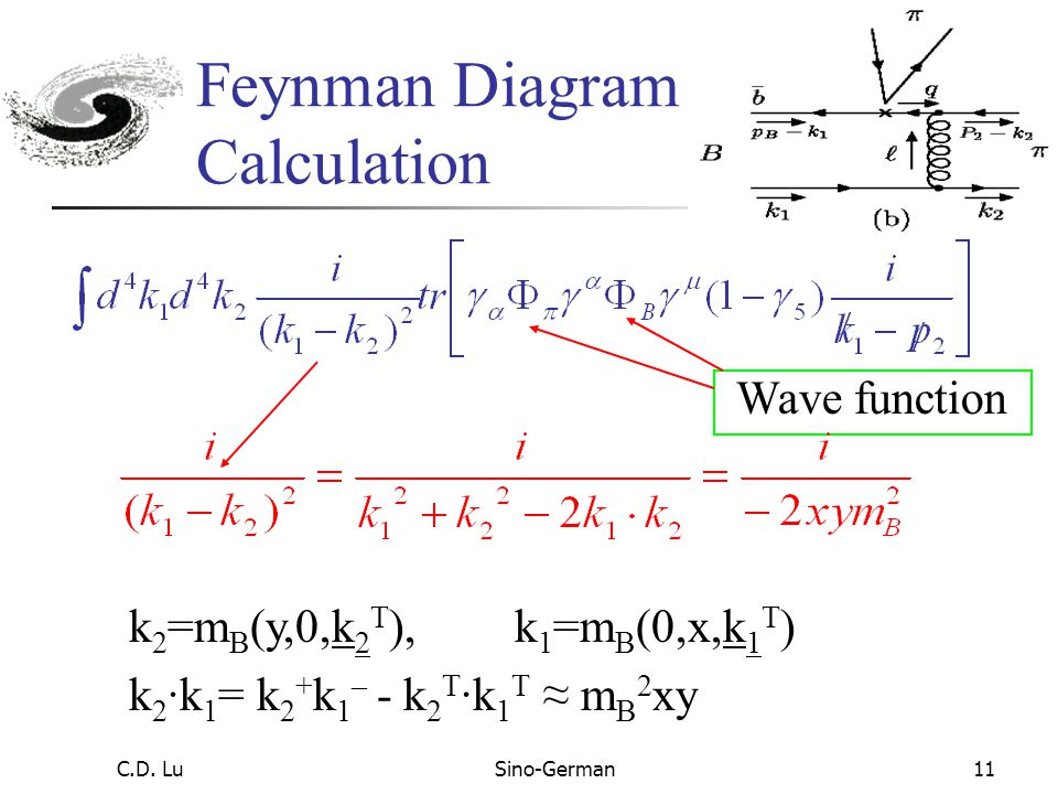 C.D. LuSino-German10 Do not need form factor inputs All diagrams using the same wave functions (same order in  s expansion) All channels use same wav